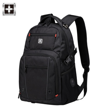 swiss black sac a dos 15.6 inch business travel laptop Backpack mochila male backpacking Laptop Backpack Sac A Dos Men Backpack