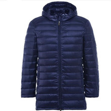 2018 New Men Ultra Light Down Jacket Spring Autumn Winter Long Down Coat Water Resistant Windproof