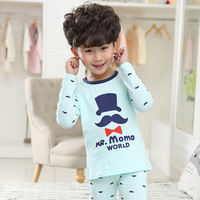 2017 Children Pajamas Sets For Boys 3 13 Years Kids Print Long Sleeve Underwear Set O