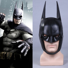 Film Batman Arkham Superman Bruce Wayne Cosplay Helm Halloween Fancy Lembut PU Masker Alat Peraga Dewasa The Dark Knight 1:1 Visi(China)
