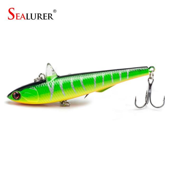 SEALURER Brand High Quality  Fishing Lure Pesca With 6# Hooks Fishing Hard Bait VIB  Fishing Tackle Pencil Crankbait