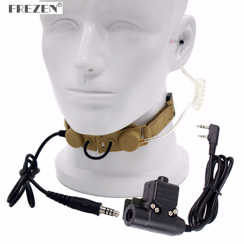 Z Tactical Throat Mic Z003 Air Tube Headset With U94 PTT For Two Way Radio BaoFeng UV-5R UV-5X UV-82 TYT TH-UV8000D Retevis H777