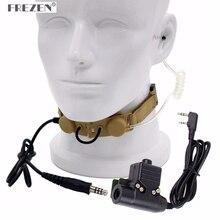 Z Taktik Boğaz Mikrofon Z003 Hava Tüp Kulaklık ile U94 PTT Iki Yönlü Telsiz BaoFeng UV 5R UV 5X UV 82 TYT TH UV8000D Retevis H777