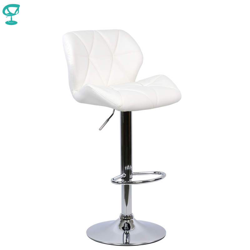 94969 Barneo N-85 Leather Kitchen Breakfast Bar Stool Swivel Bar Chair Black Color Free Shipping In Russia