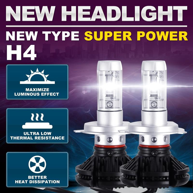 Castaleca H4 Car Led Headlight 9V-36V 50W 12000lm Super Bright 3000K 6500K 8000K All in One  H7 H11 9005 9006 9004 9007 H13 9005 9006 60w 9 36v car led headlight led driving light all in one kit super bright hight quality 18 months warranty