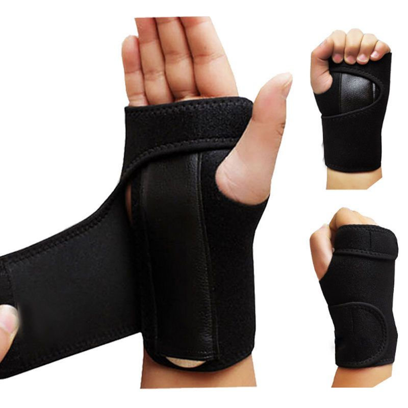 1pc Useful Splint Sprains Arthritis Band Belt Carpal Tunnel Hand Wrist Support Brace Solid Black(China)