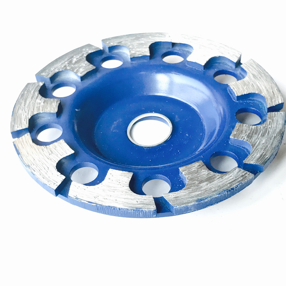 Envío gratis de 1PC de alta calidad prensada en frío 125 * 22.23 * 5MM T rueda segmentada para moler mármol / granito / cerámica / baldosas de hormigón