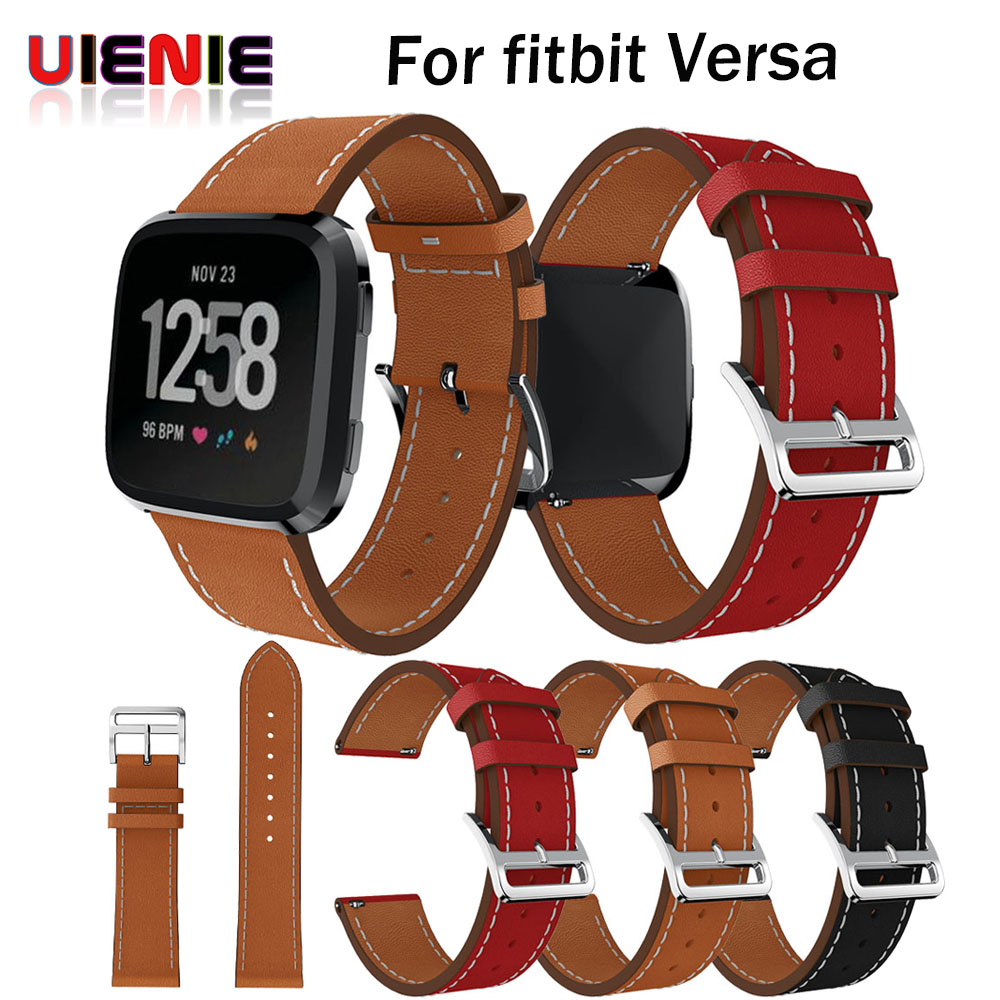 New Luxury Leather Band Bracelet Watch Band For Fitbit Versa fitness tracker activity tracker fitness watch fitness bracelet Наручные часы