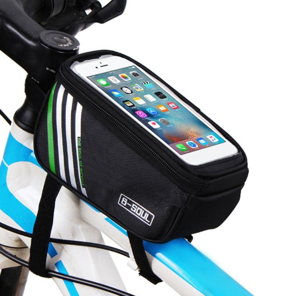 B-SOUL bicicleta manillar teléfono móvil pantalla táctil marco ...