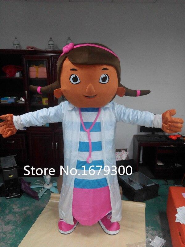 Högkvalitativ vuxen Doc McStuffins mascotdräkt Doc McStuffins - Maskeradkläder och utklädnad