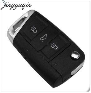 Image 2 - Jingyuqin 10 sztuk 3 przyciski składana klapka obudowa pilota z kluczykiem do samochodu Case Fob dla VW Golf 7 GTI MK7 Skoda Octavia A7 Seat