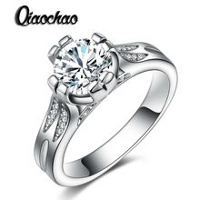 40% Off Silver Wedding Jewelry Rings for Women Crystal Engagement Cubic Zirconia Ring R216