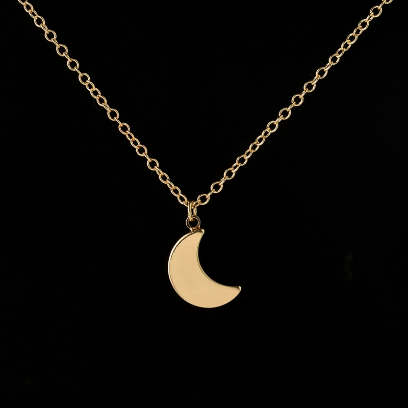 Hfarich half moon pendant necklace simple crescent moon women hfarich half moon pendant necklace simple crescent moon women necklace plain necklaces for women gifts n187 in chain necklaces from jewelry accessories on aloadofball Images