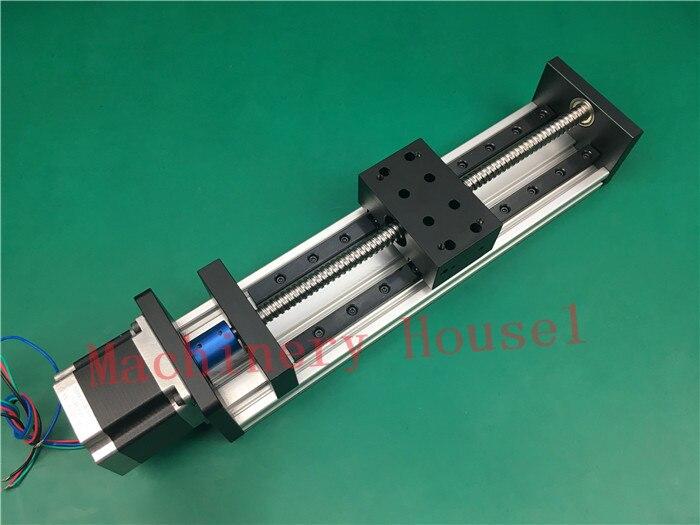High Precision GX80*50mm Ballscrew 1204 800mm Effective Travel+Nema 23 Stepper Motor Stage Linear Motion single block su gx 5s r