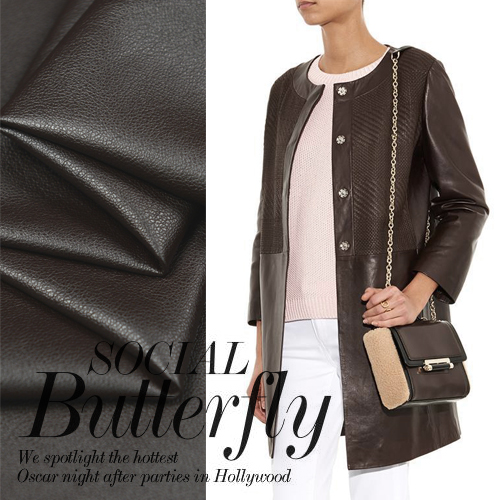 Milan - A PU for 100% PU direct import head layer leather leather fabric of horse like fabric