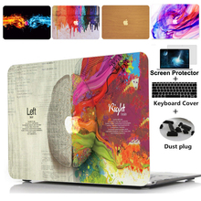 NEW Laptop Case Cover For Apple macbook Air 13.3 Pro Retina 11 12 15 For Mac book Pro 13 15 inch with Touch Bar + keyboard cover zvrua laptop case for apple macbook air pro retina 11 12 13 15 for mac book new pro 13 15 inch with touch bar keyboard cover