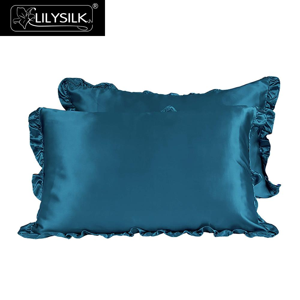 Lilysilk Pillowcase Silk Pure Natural 100 With Ruffle Trim