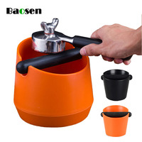 Baosen ABS Shock absorbent Espresso Knock Box Anti slip Coffee Tampers Dump Bin Waste Bin with Detachable Knock Box Kitchen Tool