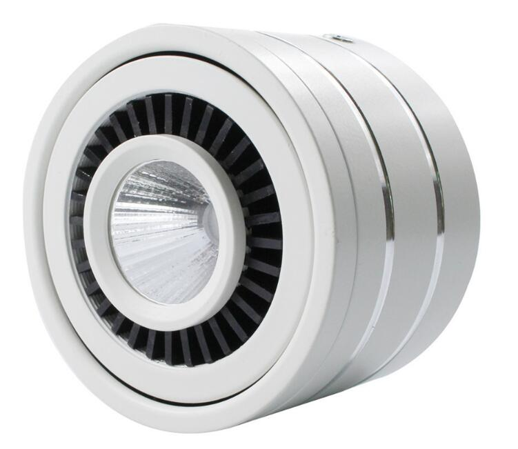 Wholesale 10W Dimmable COB LED Ceiling Light Surface Mounted Kitchen Bathroom Lamp 360 degree Rotating LED Down light AC85 265V in Downlights from Lights Lighting