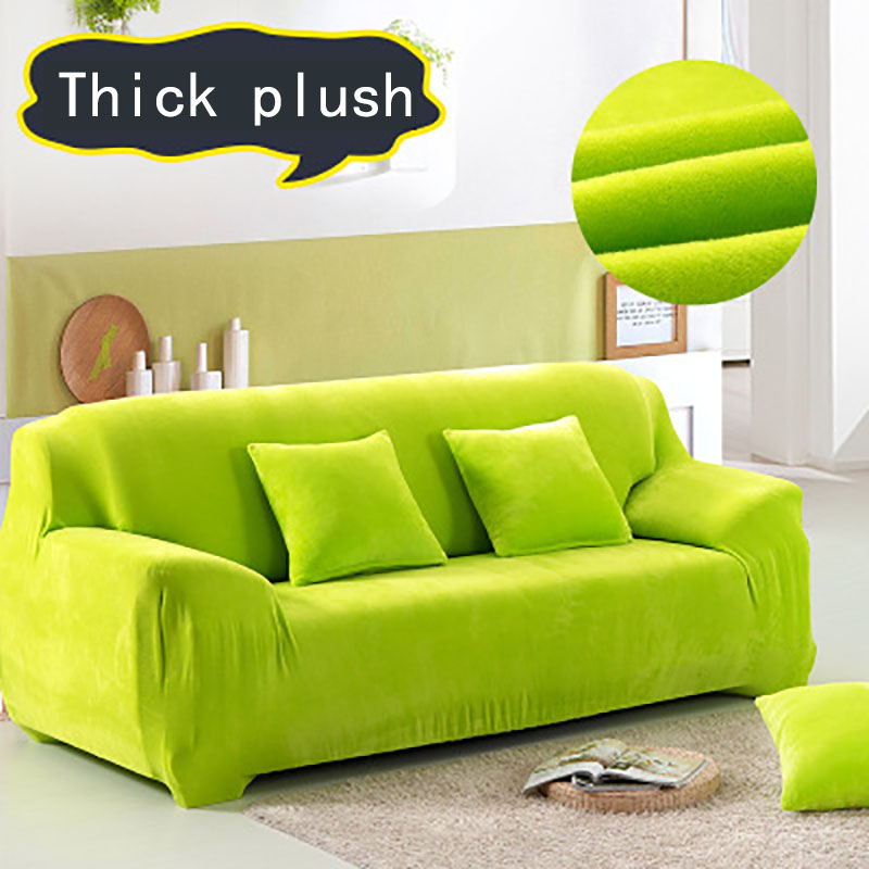 Elastic Sofa Cover Thick Velvet Plush Sofa Slipcover Pixel Stretch Fashion Couch Stretch Anti-Mite Manta Warm Use Drawing Room