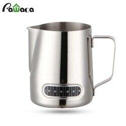 600 ML süt sürahisi Paslanmaz Çelik Süt Sürahi Frothing Sürahi Entegre Termometre Yapmak için Kahve Cappuccino Espresso Zanaat