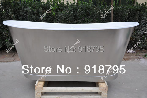 Free shipping luxury bathtub use for indoor cast iron tubs with skirting