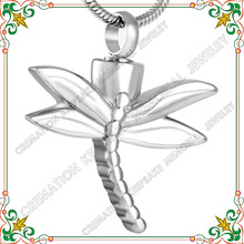 CMJ8120 dragonfly shape animal urn stainless steel pet cremation jewelry ashes pendant keepsakes Charms