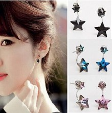 2015 Women Fashion Jewelry pentagram  earrings new color Imitation diamonds earrings of around Venus