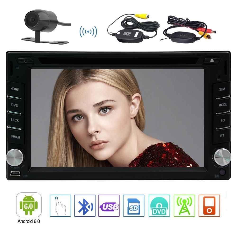 Android 6.0 voiture stéréo multi-touch écran 2DIN Radio lecteur DVD GPS 1080 P vidéo OBD2 Wifi caméra de recul sans fil inclus