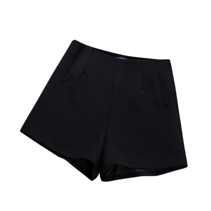 Summer Shorts High Waist Casual Suit Shorts Black White Hot Fashion Women Short Pants