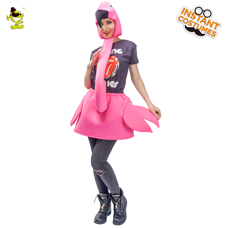 3ed7aad1c1558 Brand New Rose Red Flamingo Lady Costumes Carnival Party Funny Flamingo Girl  Role Play Fancy Jumpsuit