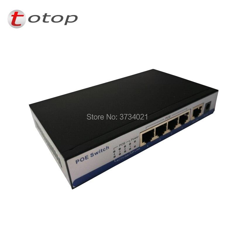 POE 5 Ports (1Uplink, 4 PoE) Power Over Ethernet Switch IEEE 802.3af/802.3at Endspan PSE(1,2+/3,6-)