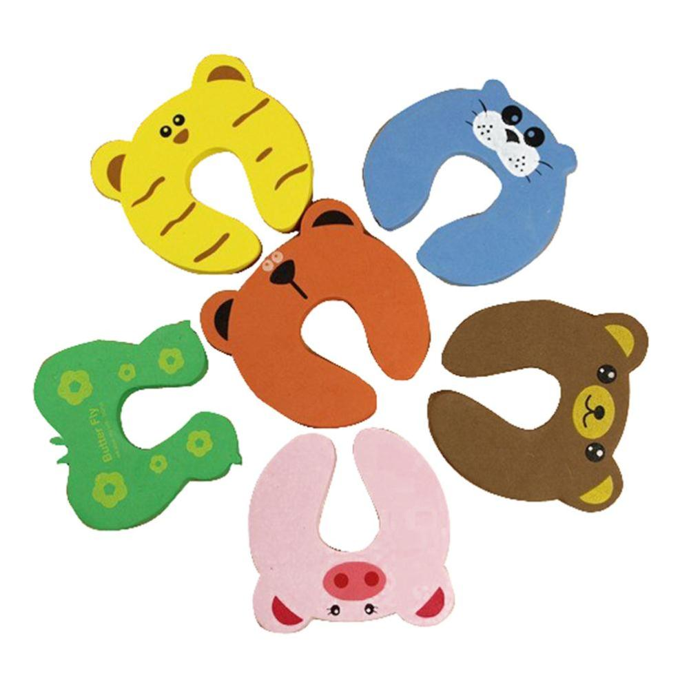 5 PCs Child kids Baby Animal Cartoon Jammers Stop Door stopper holder lock Safety Guard Finger Protect wholesale