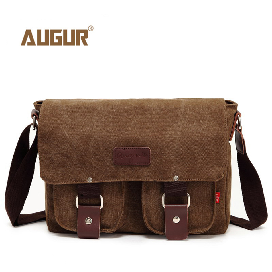 AUGUR Large Capacity Men Women Crossbody Bag for Pad Handbags Canvas Shoulder Bag Messenger Bag