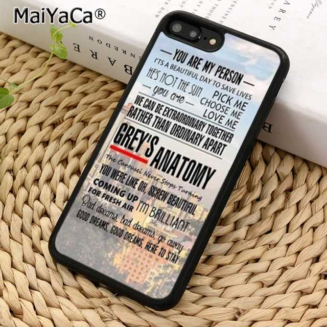 MaiYaCa You're My Person Greys Anatomy Phone Case Cover For iPhone 5 6s 7 8 plus 11 pro X XR XS max Samsung S6 S7 S8 S9 S10 plus
