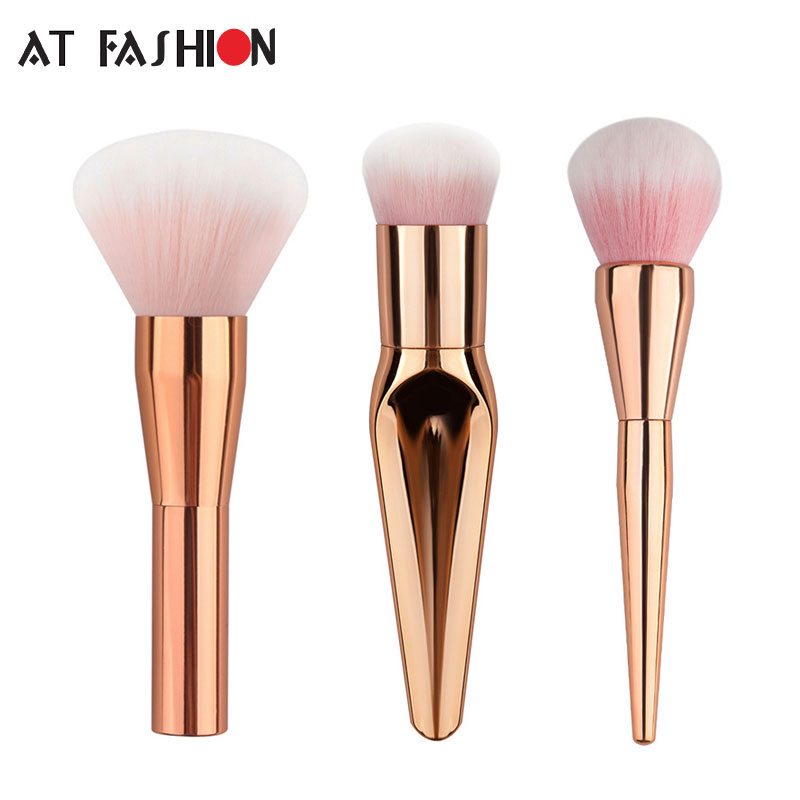 New Rose Gold Makeup Brush Set Professional 3 pcs Makeup Brushes Facial Care Beauty Cosmetics Foundation MakeupBrushes Tool 1set new 4 in1 makeup beauty diy facial face mask bowl brush spoon stick tool set