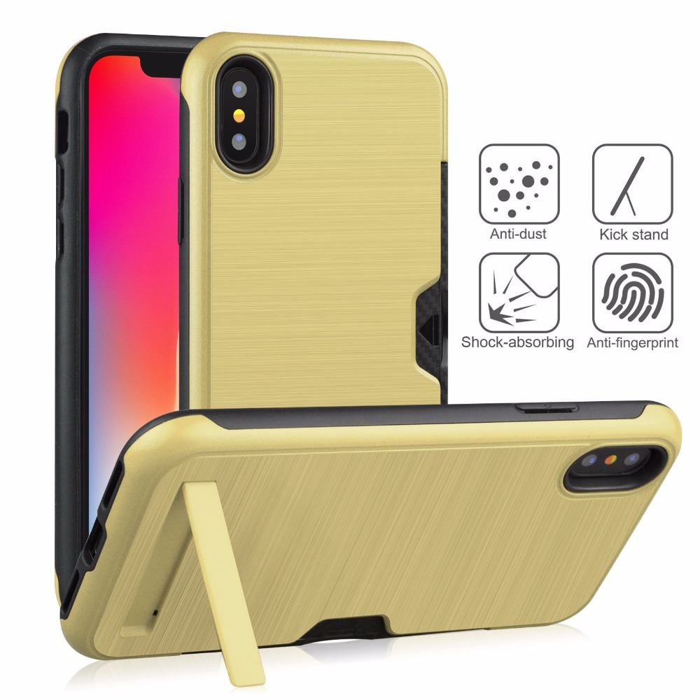 100pcs/lot Brushed King Ultra Thin Tpu+pc New Design Cover Case For Iphone 6 7 8 X Xr Xs Max 6 7 8 Plus Hot Sale Cover Case A Great Variety Of Models