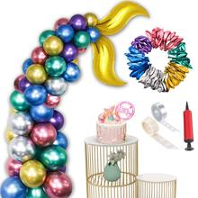 METABLE Pack of 54pcs Latex Metallic Balloons Premium Party Decorations for Birthday Mermaid Supplies