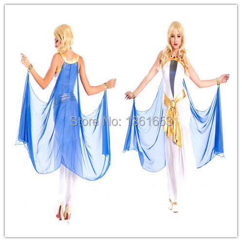 Sexy Egypt's queen cleopatra Halloween cosplay party drag dress game COS  uniform dress