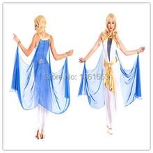 Sexy egipto reina cleopatra cosplay del partido de Halloween drag vestido COS juego vestido de uniforme