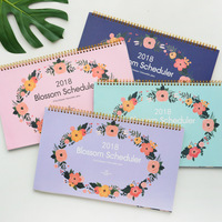 Big Blossom 2018 Desk Calendar Table Planner Agenda Cute Scheduler Study Memo To Do List
