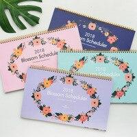 Big Blossom 2018 Desk Calendar Table Planner Agenda Cute Scheduler Study Memo To Do List