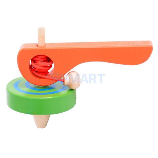Деревянный классический гироскопа волчок Spining Топ Детские Peg-топ развивающие Spinner Спиннинг игрушка открытый