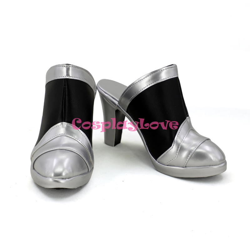 CosplayLove Custom Made OW Game Pink Angel Skin Cosplay Shoes Long Boots For Christmas Halloween (2)