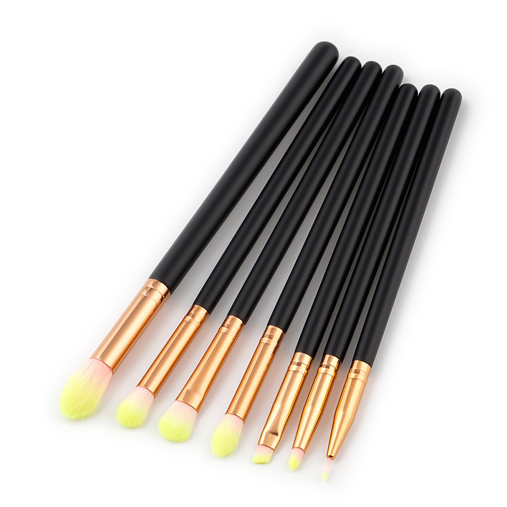 New 7Pcs Cosmetic Eyebrow Eyeshadow Brush Makeup Brush Tools Make-up Hair Beauty  Sets Kits Tools Tools Make-up Hair Beauty