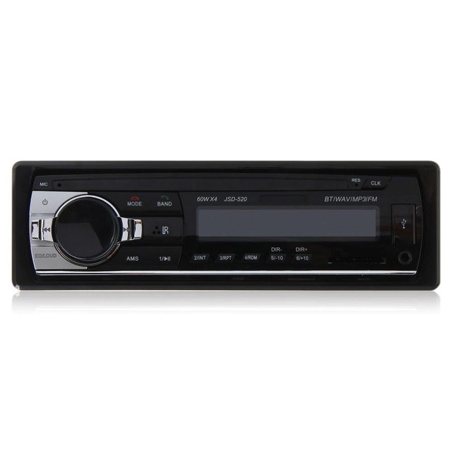 Universal Car Stereo Audio In-dash Single Din FM Receiver with 12V Bluetooth 2.0 Aux Input Receiver USB MP3 MMC WMA Radio Player
