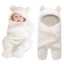 Cobertor do bebê recém-nascido swaddle envoltório macio inverno bebê cama recebendo cobertor manta bebes saco de dormir 0-12 m recém-nascidos