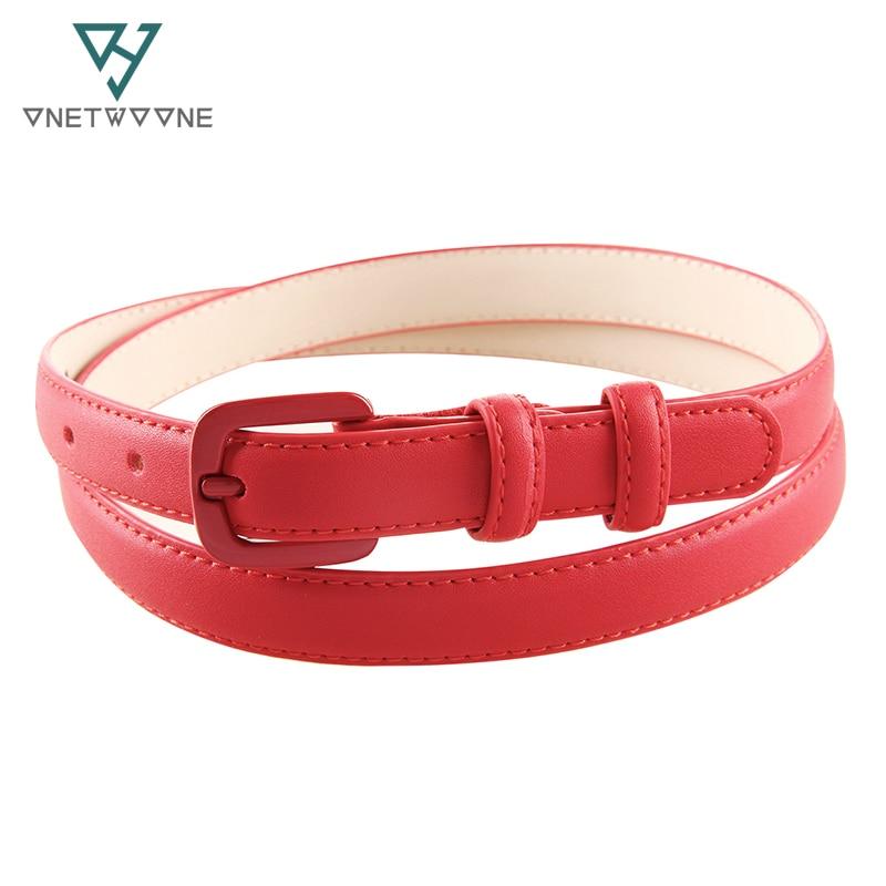 Genuine leather Belts for Women Fashion Pin buckle thin woman belt Blue