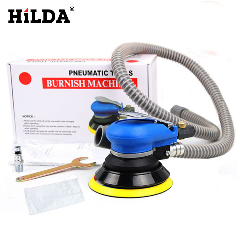 5 Inch Sander & Car polisher Random Orbital Air For Palm Vacuum Cleaner Set Tool 5inch hilda 5inches random orbital air for palm sander