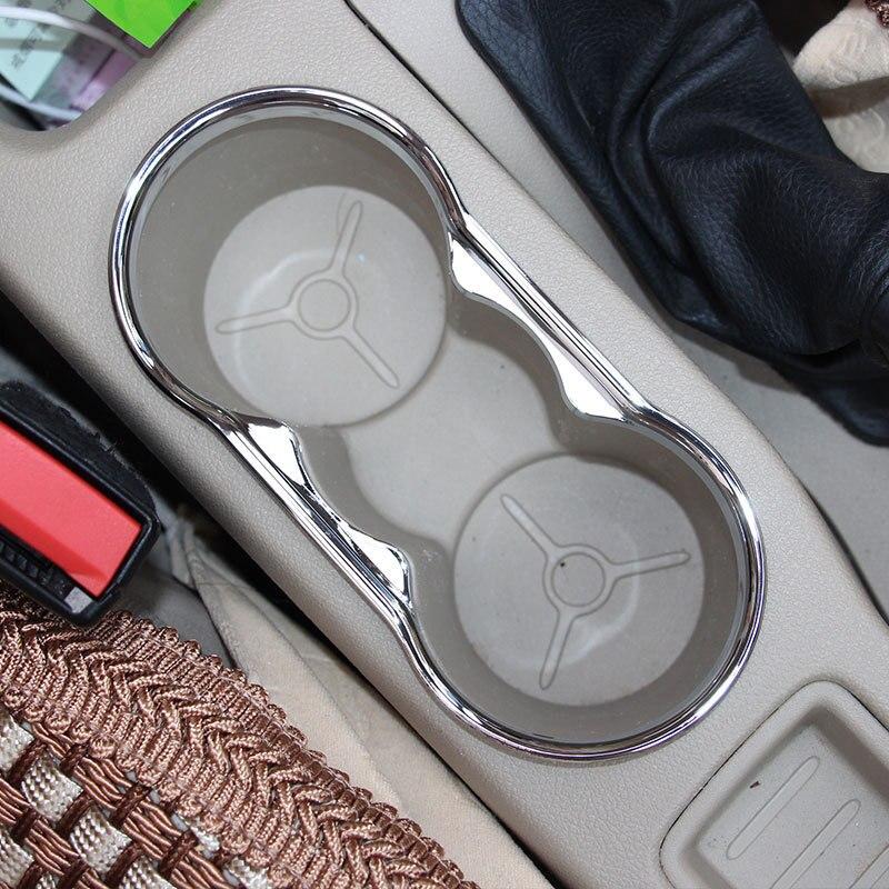 Специальный декоративный стакан для воды для автомобиля ABS Chrom, автомобильные аксессуары для Ford Focus 2 2005-2013 Fiesta
